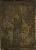 Thumbnail preview van Drei Mädchen, Schwestern, stehend, die Ältere…