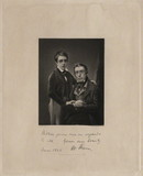 Visualizza Hall length portrait of a boy and an older ma… anteprime su