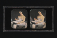 Miniaturansicht Vorschau von Stereoscopic image of a woman with partial un…