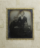 Thumbnail preview of Three quarter length portrait of a family: Es…