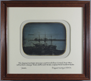Visualizza Framed and glazed photograph of a three maste… anteprime su