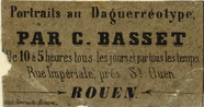 Thumbnail preview of photographers label of Basset C., Rouen, Fran…
