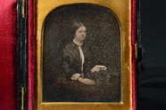 Thumbnail af Black and white photo, daguerreotype. Vendela…