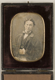 Thumbnail af Portrait of a young man seated.