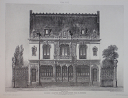 Visualizza Reproduction of a drawn elevation of a small … anteprime su