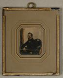 Forhåndsvisning av Bildnis eines Herrn in holzgeschnitztem Sesse…