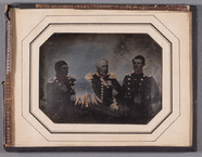 Thumbnail preview of Group portrait of unknown men in uniforms, pa…
