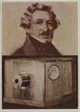 Thumbnail preview of portrait of Daguerre together with an image o…