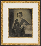 Visualizza Portrait of a woman, seated, resting her left… anteprime su