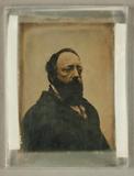 Visualizza Brustbild eines bärtigen Mannes, um 1850. anteprime su