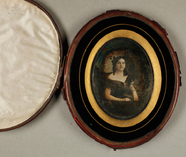 Visualizza Damenporträt, um 1850.  anteprime su