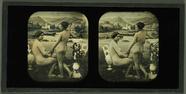 Miniaturansicht Vorschau von Doppelakt vor gemalter Kulisse, Frankreich