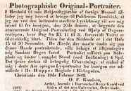 Visualizza O.F. Knudsens annonse om åpning av hans fotog… anteprime su