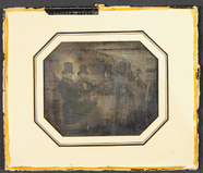 Thumbnail preview of Group portrait of four unknown men, who sit s…