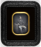 Thumbnail preview of Portrait of a sitting gentleman leaning on a …