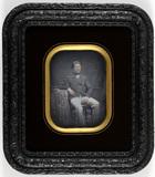 Miniaturansicht Vorschau von Portrait of a sitting gentleman leaning on a …
