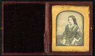 Visualizza Half length portrait of seated woman turned t… anteprime su