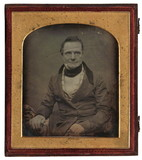 Visualizza A portrait of a sitting man, Charles Babbage. anteprime su