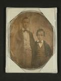 Thumbnail preview of Bildnis eines Brüderpaares, Dreiviertelfigure…