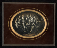 Visualizza Group portrait of ten young men. Five seated … anteprime su