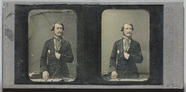 Visualizza Three quarter portrait of a man standing faci… anteprime su