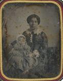 Visualizza Portrait d'une femme et son bébé anteprime su