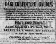 Visualizza Advertisement for Daguerréotype GAUDIN. anteprime su