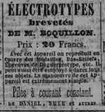 Visualizza Advertisement for Electrotypes brevetés de M … anteprime su