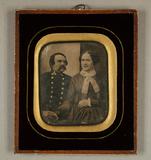 Visualizza Bildnis eines Ehepaars, halbe Figuren, er in … anteprime su