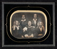 Visualizza Group portrait of five women, three seated on… anteprime su