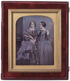 Visualizza A portrait of two standing women, Jenny Lind … anteprime su