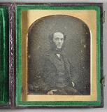 Visualizza Half length portrait of a seated man; his lef… anteprime su