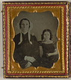 Miniaturansicht Vorschau von Portrait of a woman and a girl (cover part), …