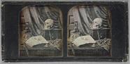 Miniaturansicht Vorschau von 'Nature Morte' still life study: with skull, …