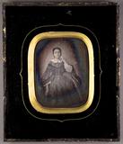 Visualizza Portrait einer Dame. Eine Frau (stehend?). Ei… anteprime su