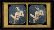 Thumbnail preview of Three quarter portrait of a naked young woman