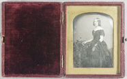 Miniaturansicht Vorschau von Young woman in evening dress standing by a lo…