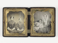 Thumbnail preview of portrait of two and woman and child