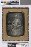 Visualizza Ingekleurd portret van een vrouw, zittend, dr… anteprime su
