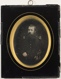 Visualizza Portrait of a bearded soldier in uniform. The… anteprime su