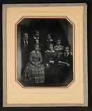 Thumbnail preview of Gruppe von drei Jünglingen und vier Mädchen, …