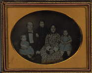 Thumbnail preview of Family group portrait of a man, woman and thr…