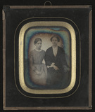 Thumbnail preview of Portrait of girl and woman, possibly mother a…