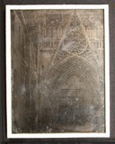 Visualizza View of a door in Rouen Cathedral, with the d… anteprime su