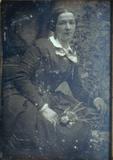 Forhåndsvisning av Porträt einer unbekannten Dame mit Blumen.