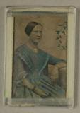 Visualizza Bildnis einer Dame in blauem Kleid neben Efeu… anteprime su