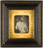 Thumbnail af Portrait of an officer, seated, dressed in wh…