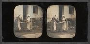 Esikatselunkuvan Deux paysannes en train de dépouiller un lapi… näyttö
