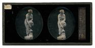 Miniaturansicht Vorschau von Skulptur einer weiblichen Figur mit aufgestüt…