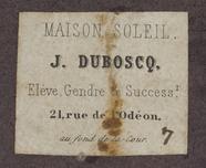 Visualizza photographer label of Jules Duboscq, a Paris,… anteprime su